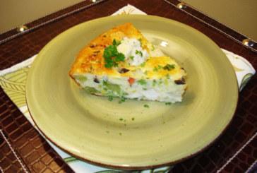 Bolo de legumes com queijo Tofu