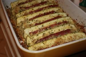 zucchine assado com bacon 300x200 Zucchini assado com bacon