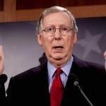 """O líder da minoria no Senado, Mitch McConnell, de Kentucky, considerou a tática de Obama """"a pior política em Washington"""""""