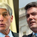 Uma pesquisa sobre a disputa no Colorado revelou que o candidato republicano Cory Gardner (dir.) lidera o Senador Mark Udall (esq.) por 47% contra 41% entre os prováveis eleitores latinos