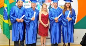 Formandos Marizete, Elias, Elmada e Carlos
