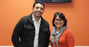 Petrônio Leal Romero e Leni Teixeira, sócios da escola de idiomas CCLS, no bairro do Ironbound, em Newark (NJ)