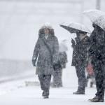 No sábado (14), além da neve, também haverá a possibilidade de chuvas esparsas