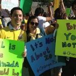 Manifestantes também saíram às ruas no Canadá contra o PT e pelo impeachment da Presidenta Dilma Rousseff (Foto do Facebook)
