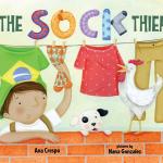 """A obra """"The Sock Thief"""" foi inspirada pelas histórias de infância de seu pai, que roubava as meias-calças da mãe dele para fazer bolas e jogar futebol com os amigos"""