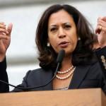 """""""Com mais de 1 milhão de californianos trabalhadores elegíveis, o nosso estado tem um grande interesse na implantação vitoriosa das ações do presidente na imigração"""", disse a promotora pública estadual Kamala Harris"""
