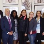 A equipe de advogados do escritório Koehler & Isaacs, coordenadores do Mantena Global Care e participantes durante a palestra sobre seguros, em Newark (NJ)