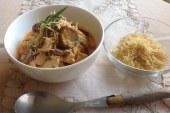 Estrogonofe de frango com estragão