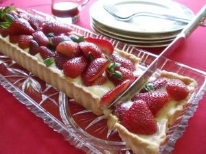 torta de morangos 21 300x225 Torta de morango