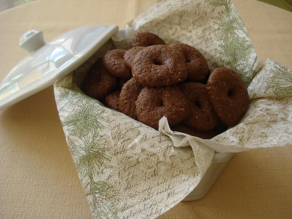 Biscoitos de Ovomaltine e aveia