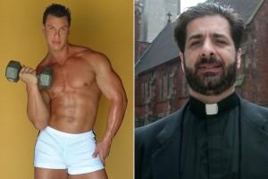 """Durante as sessões de sexo, o Padre Miqueli (dir.) teria sido obrigado a chamar Keith Crist (esq.) de """"mestre"""" e beber a urina do fisiculturista (Foto: NY Post)"""