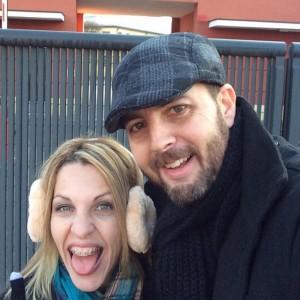 O casal Sérgio Umberto e Jaqueline Ingegneri durante viagem pela Europa (Foto: Facebook)