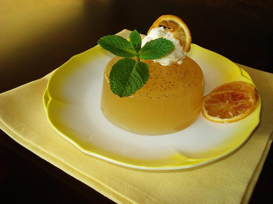 gelatina de hortelã com limão Gelatina de hortelã com limão