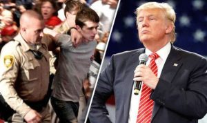 Antes de participar do comício de Trump, o britânico Michael Sandford treinou tiro ao alvo da academia Battlefield Vegas
