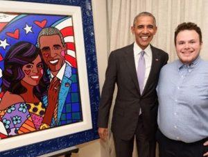 Barack Obama e Brendan Britto