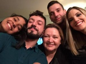 Sabrina, Ricardo, Vera Reis, Fernando e Tatiane