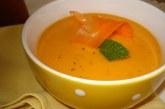 Sopa de cenoura com arroz