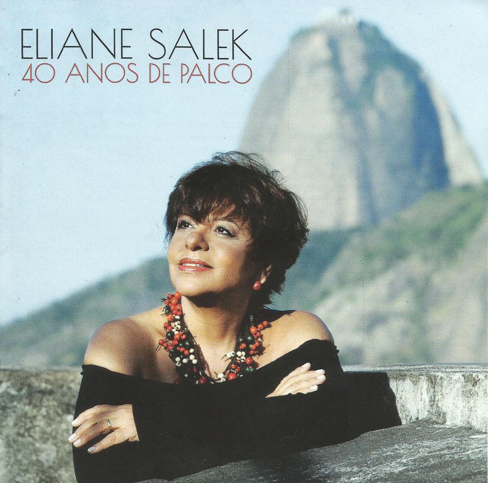 Capa CD Eliane Salek 40 anos de palco Brasileira, graças a Deus