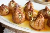 Doce de figo com pistache e gergelim