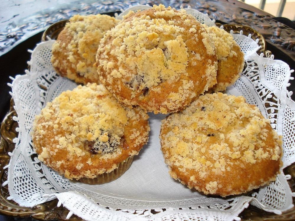 Muffins de limão com cereja e cobertura crocante 412276 Muffins de limão com cereja e cobertura crocante
