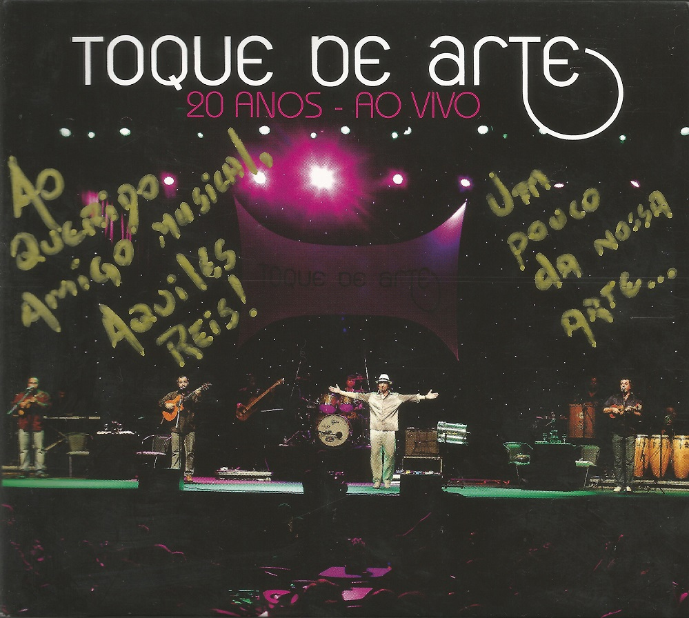 Capa CD Toque de Arte ao vivo Aprimorados e populares