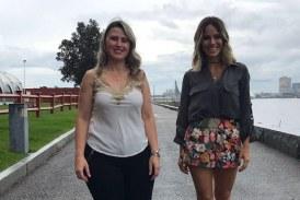 Fernanda Pontes entrevista Wanessa Mel a caminho do encontro com os caravaneiros do BR Day NY Crédito  Globo  Divulgação  274x183 Home page