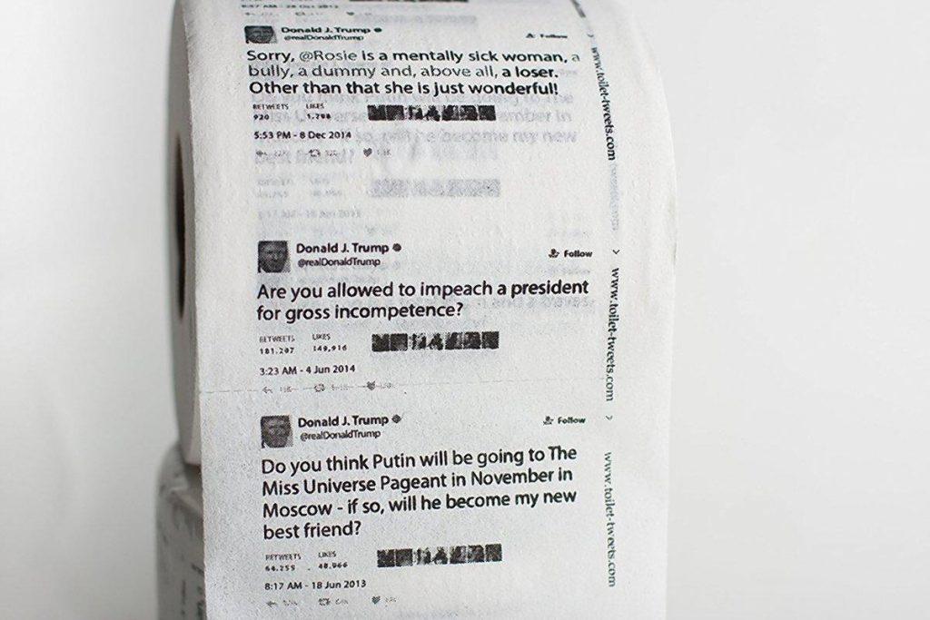 Foto22 Papel Higienico Trump 1024x683 Esgota na Amazon.com papel higiênico de Trump