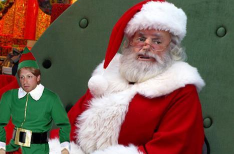 santa mal Papai Noel de shopping