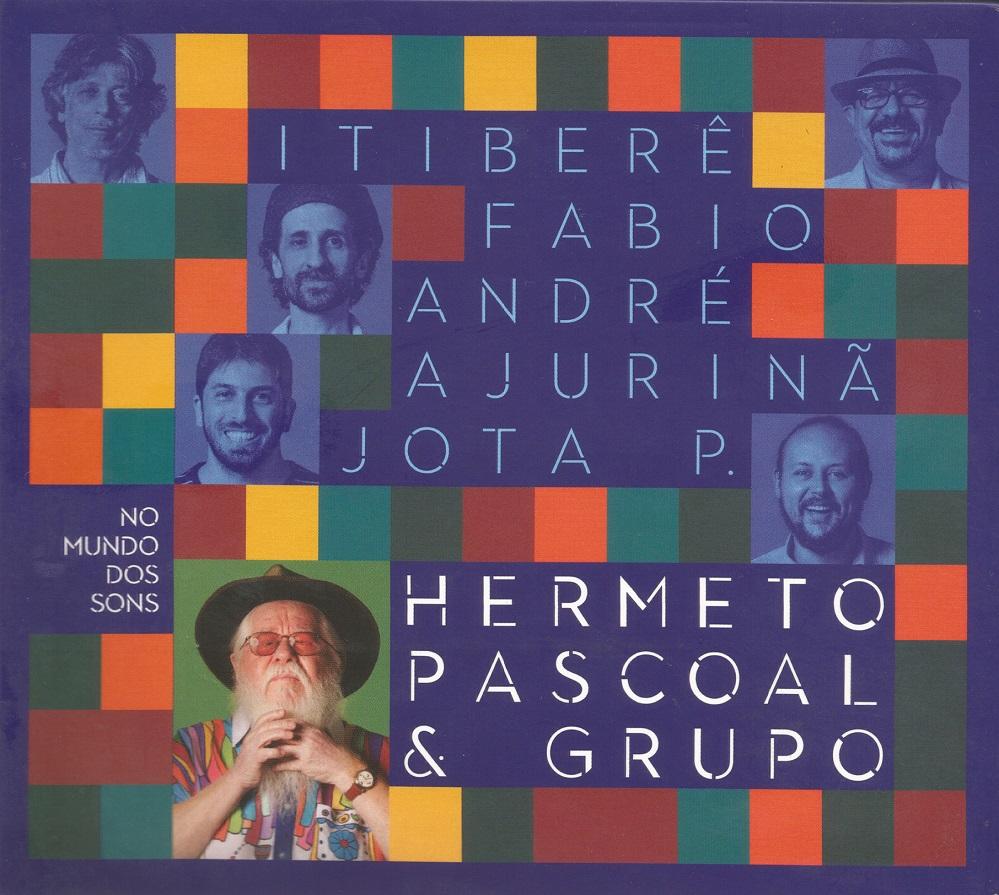 Capa CD duplo Hermeto Pascoal grupo No mundo dos sons Viajando com Hermeto