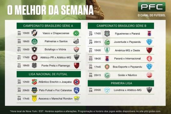 Returno do Brasileirão e decisão da Primeira Liga no PFC