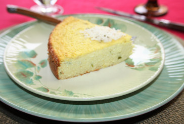 Bolo de couve flor com queijo ricota e parmesão