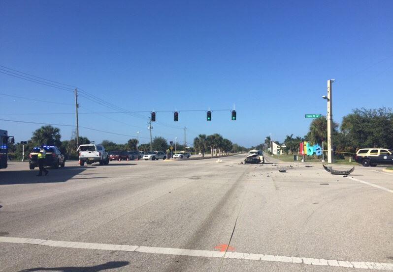 Foto11 Local do acidente FL Pastora brasileira morre em acidente de carro na Flórida