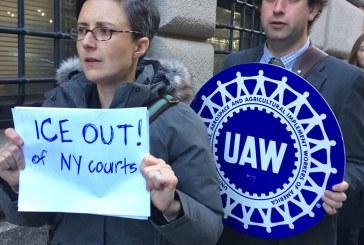 Ativistas de NY querem agentes do ICE fora dos tribunais