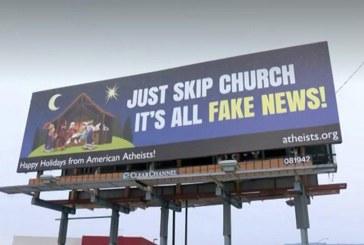 """Ateístas usam """"Fake News"""" em propaganda contra o Natal"""