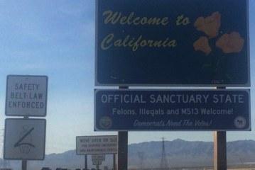"""Placas falsas debocham de """"Estado Santuário"""" na Califórnia"""