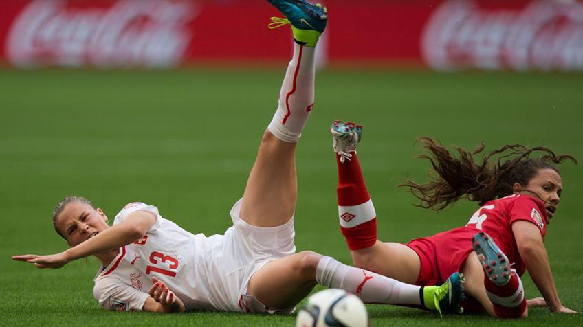 futeb Teste de futebol para as mulheres