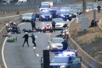 """2 brasileiros estão entre os 5 motociclistas presos por """"caos"""" na Rota 93"""