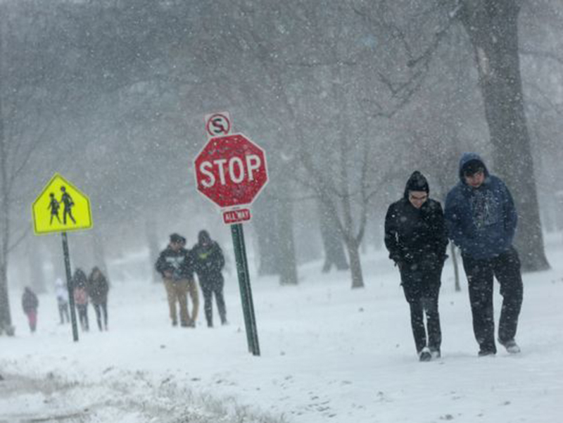 Foto23 Queda de neve Tempestade pode acumular até 3 polegadas de neve