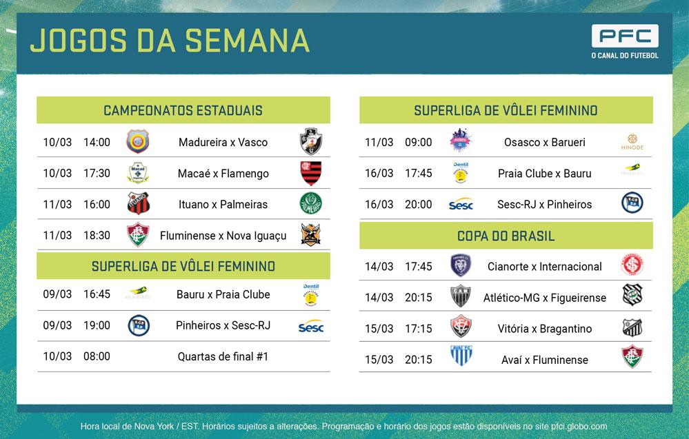 PFC PRINT Semana de definições da Copa do Brasil no PFC