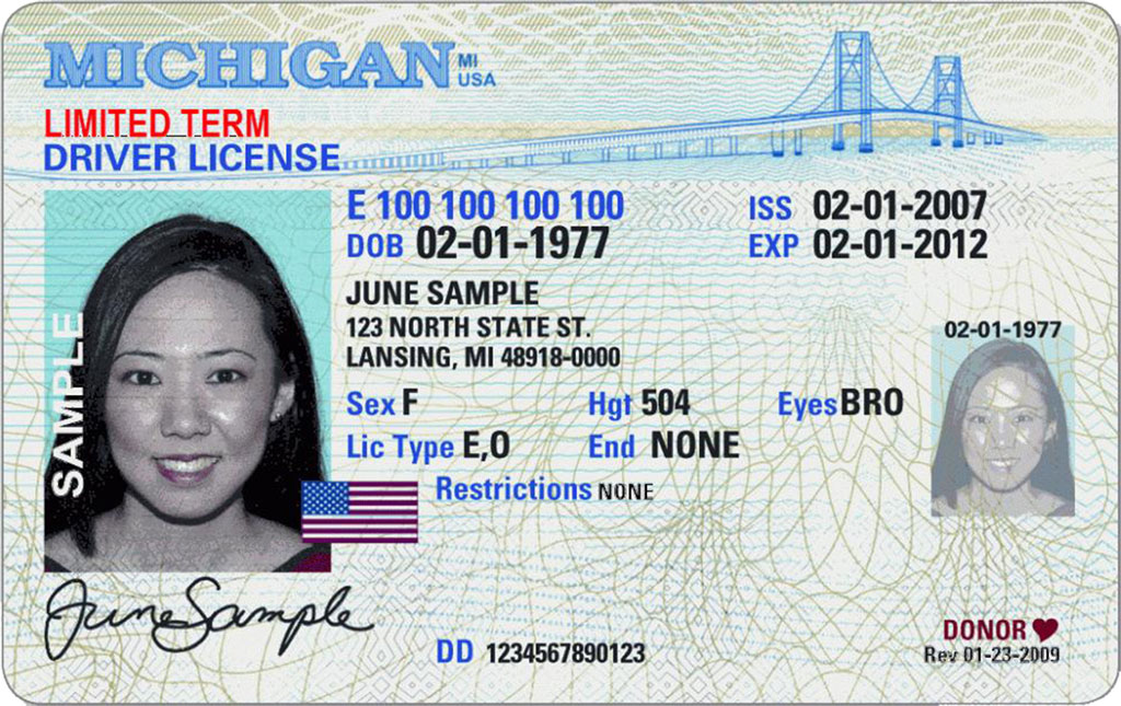 "Foto21 Carteira de Michigan Michigan avalia ""marcar"" carteiras de motoristas de indocumentados"