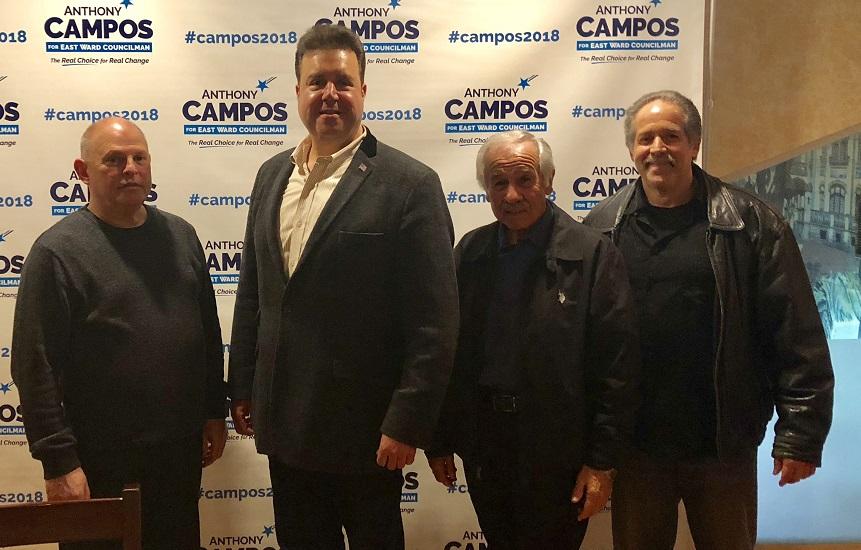 Foto9 Anthony Campos e lideres distritais Lideranças políticas bipartidárias anunciam apoio a Campos