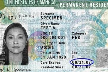 Imigração recolhe green cards com data errada