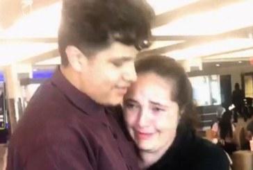 Brasileira reencontra o filho após 8 meses de separação nos EUA