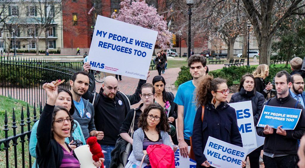 Fotos9 Protestos pelos refugiados Escolha de Trump para liderar departamento de refugiados é contra imigração