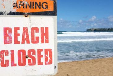 Índice alto de bactérias fecha praias em NJ