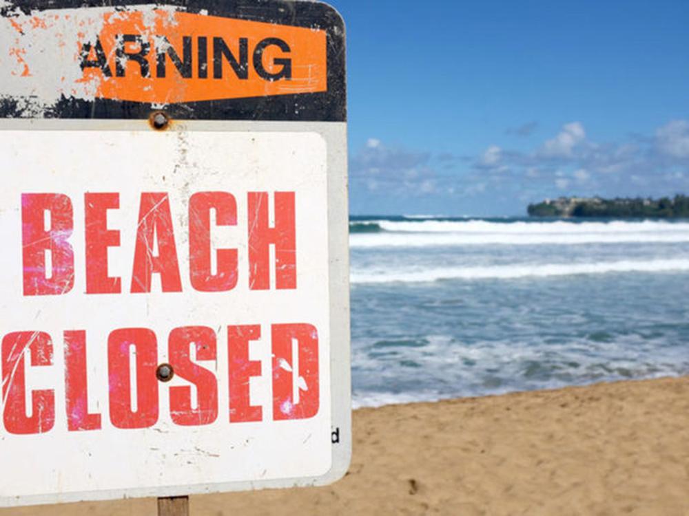 Foto8 Beachwood Beach  Índice alto de bactérias fecha praias em NJ