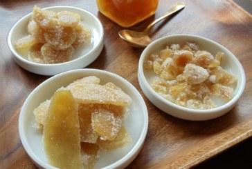 Gengibre em calda e cristalizado