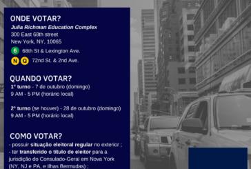Consulado divulga local de votação nas eleições presidenciais 2018