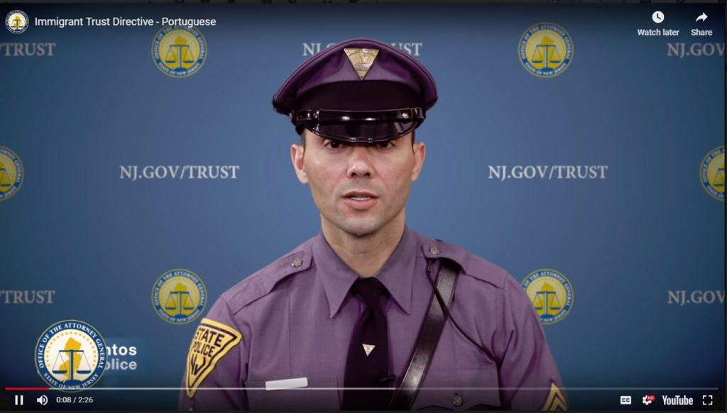 Foto19 Ricardo Santos Polícia de NJ faz campanha de diretriz que limita ajuda ao ICE
