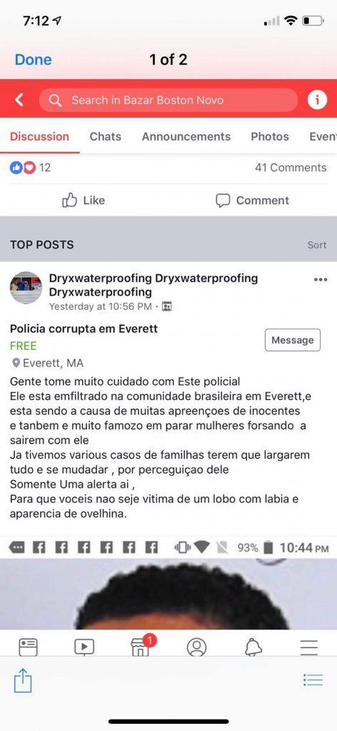 Foto20 Denuncia no Facebook Postagem atacando policial brasileiro gera polêmica em MA